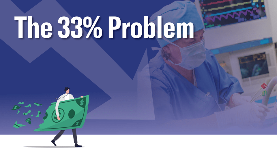 Graphic for the 33 percent problem facing anesthesiologists