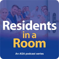 Residents in a room podcast icon