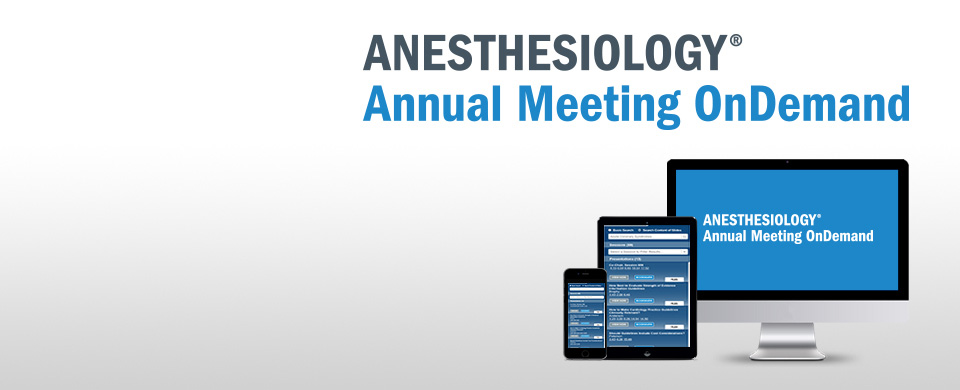 ANESTHESIOLOGY Annual Meeting OnDemand | ASA