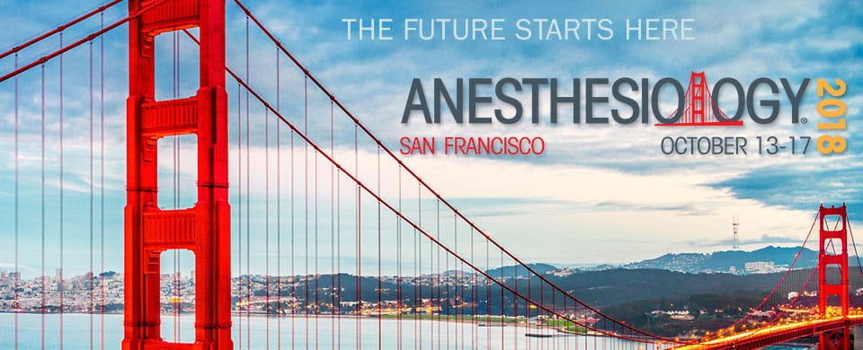 anesthesiology 2018, the future starts here