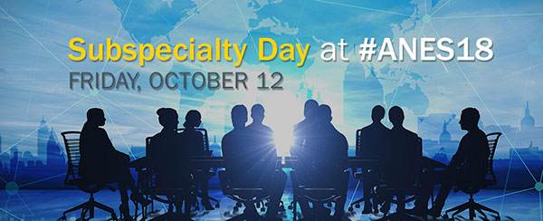 Subspecialty Day Friday october 12