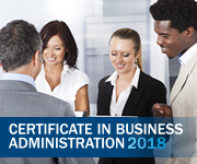 Certificate in Business Administration 2018
