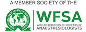 A Member of the World Federation of Societies of Anaesthesiologists (WFSA)