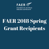 FAER 2018 Spring Grant Recipients