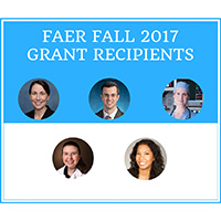 FAER 2017 Fall Grant Recipients