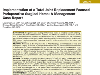 PSH Total Joint replacement